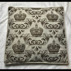 Other - White pillow with brown crown and royal motif